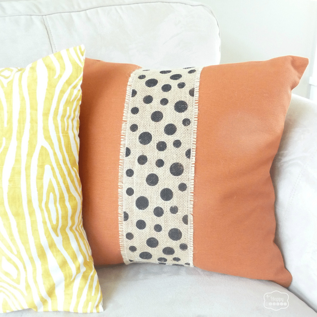 Burlap Embellished Pillows