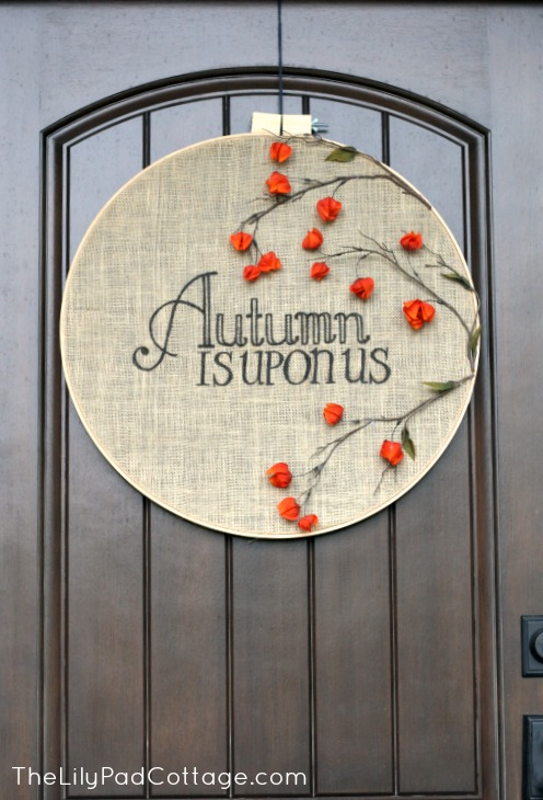 Autumn Embroidery Hoop | 11 Ways to Add Fall to Your Home