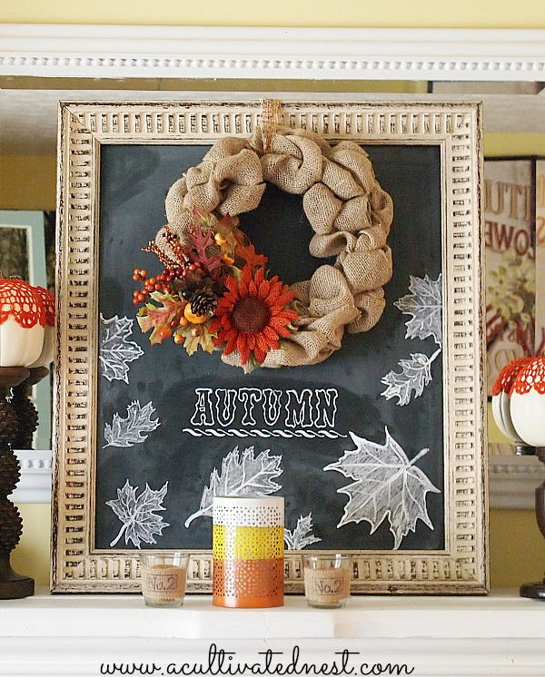 11 Ways to add Fall to your Home | Fall Mantel from A Cultivated Nest