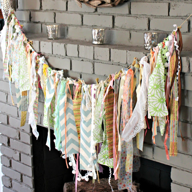 DIY Fabric Scrap Garland