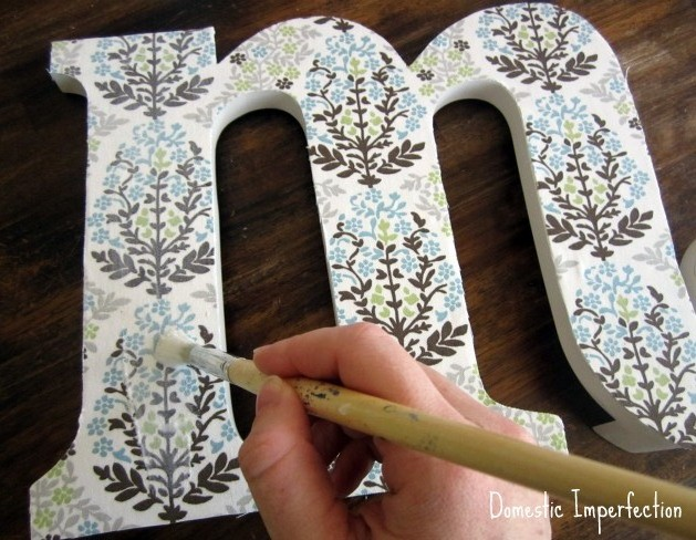 Fabric-Covered Initial