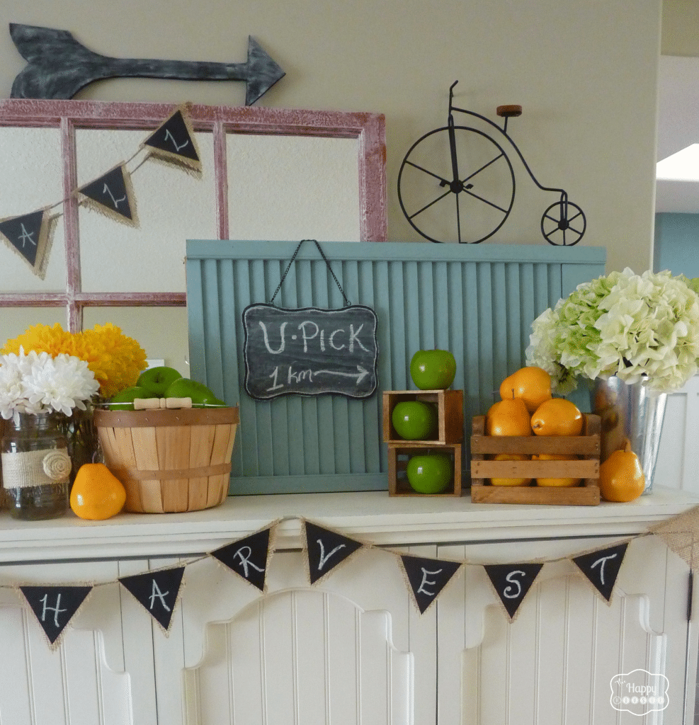 11 Ways to add Fall to your Home | Harvest Mantel from The Happy Housie