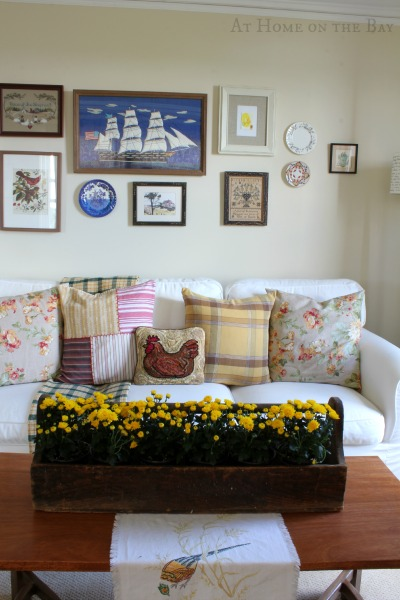 11 Ways to add Fall to your Home | Decorating with Mums from At Home on the Bay