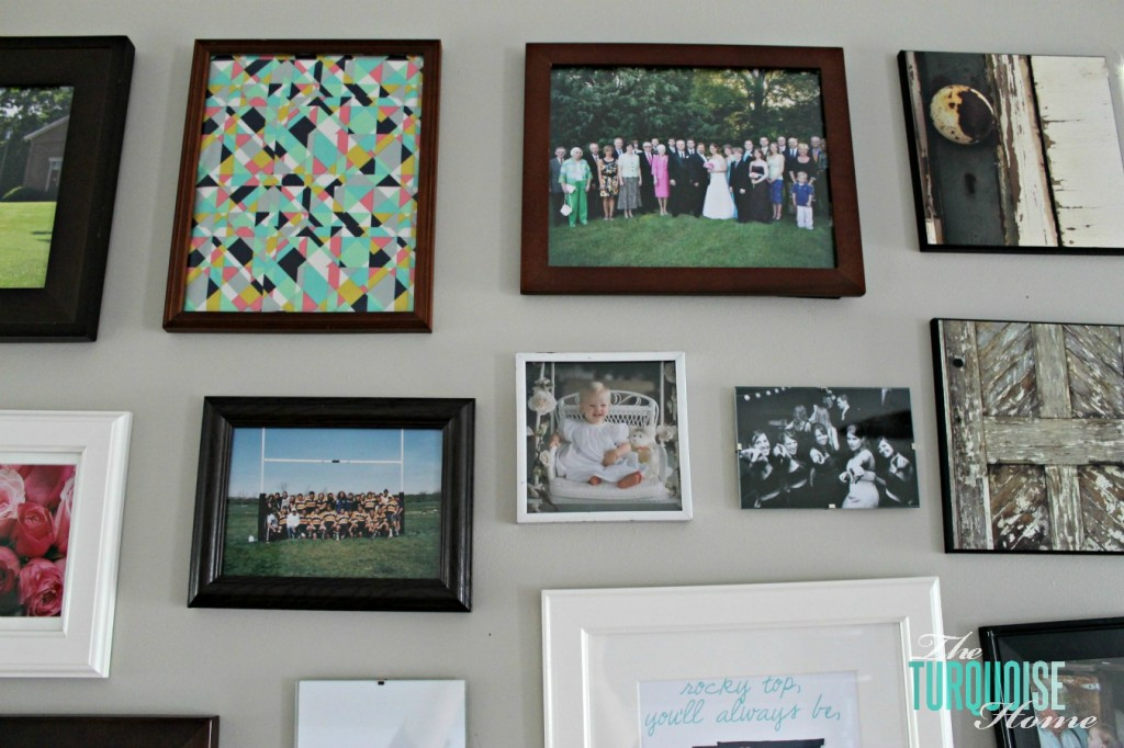 Add Fabric to a Gallery Wall