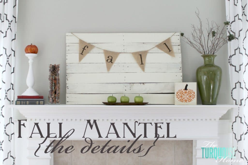 Planked Pallet Fall Mantel {Details}