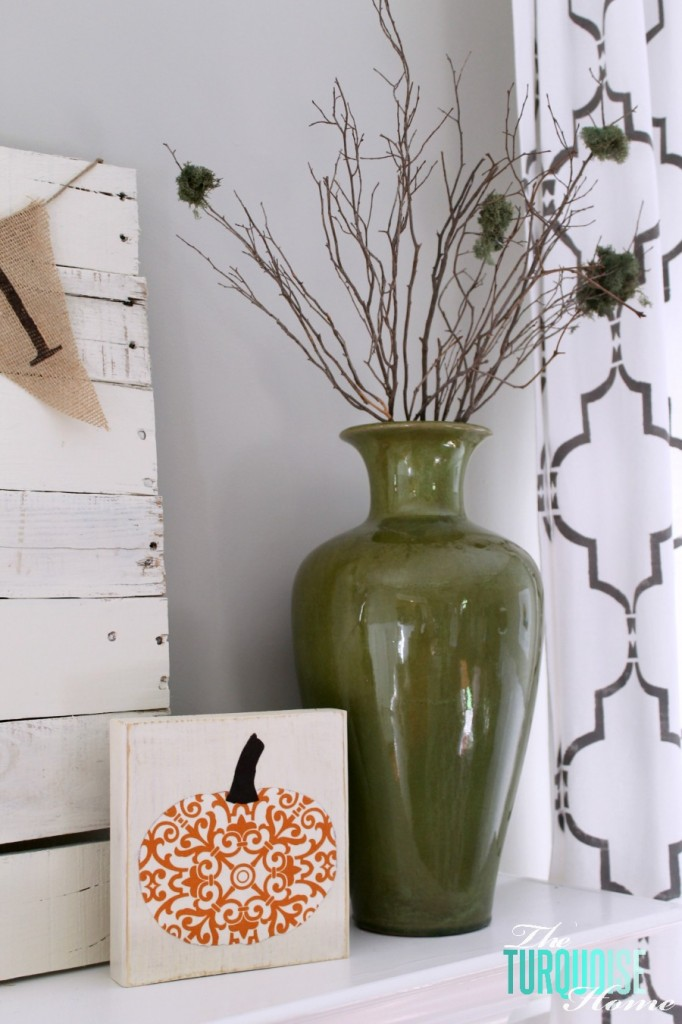 Planket Pallet Fall Mantel   The Turquoise Home