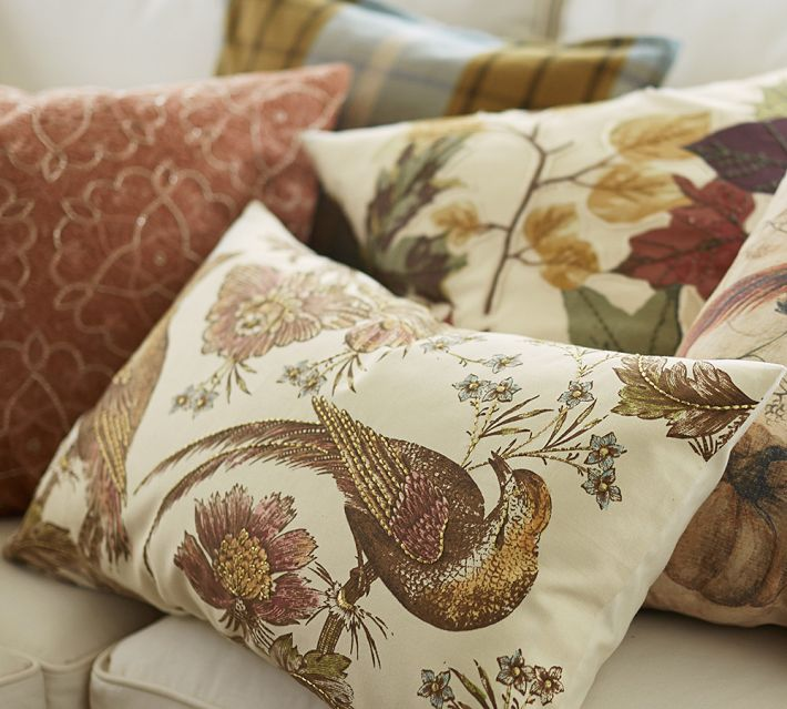 11 Ways to add Fall to your Home | Fall Pillows from Pottery Barn
