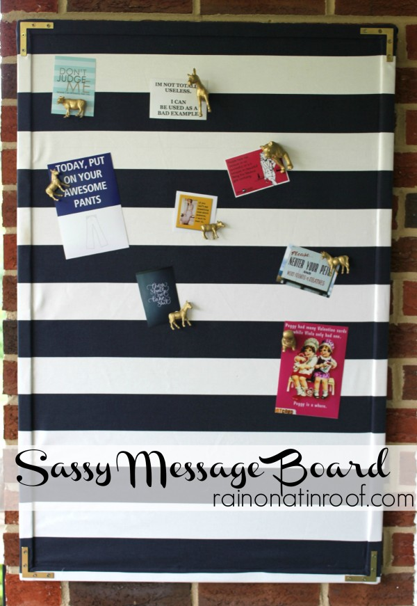 Fabric-Covered Message Board