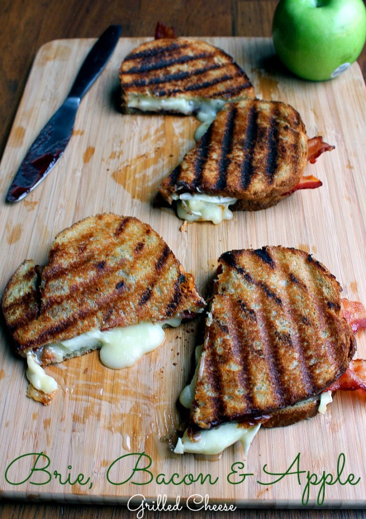 Brie, Apple and Bacon Grilled Cheese