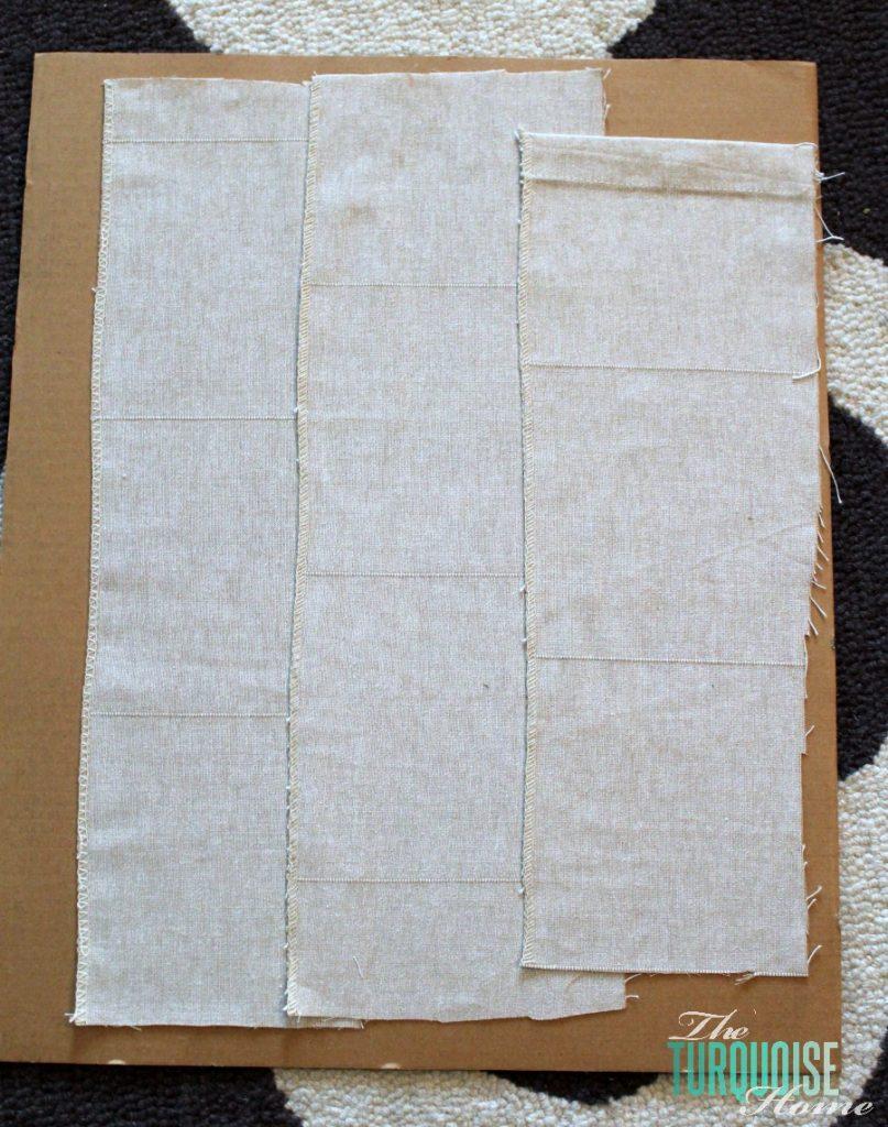 Burlap Monogram Layered Fabric Scraps