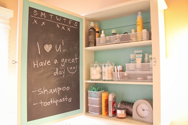 Chalkboard Painted Medicine Cabinet
