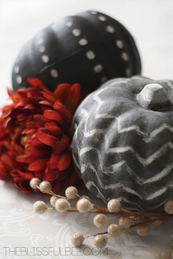 Chalkboard Painted Pumpkins