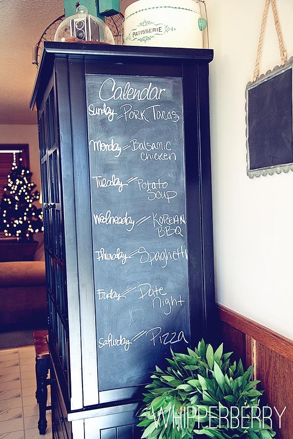Chalkboard Menu Planner