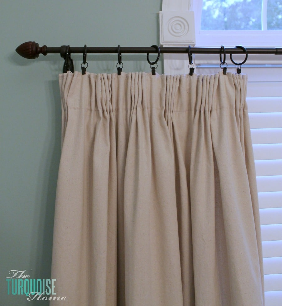So i decided to make the curtains well semi home made - Diy Easy Pleated Curtains