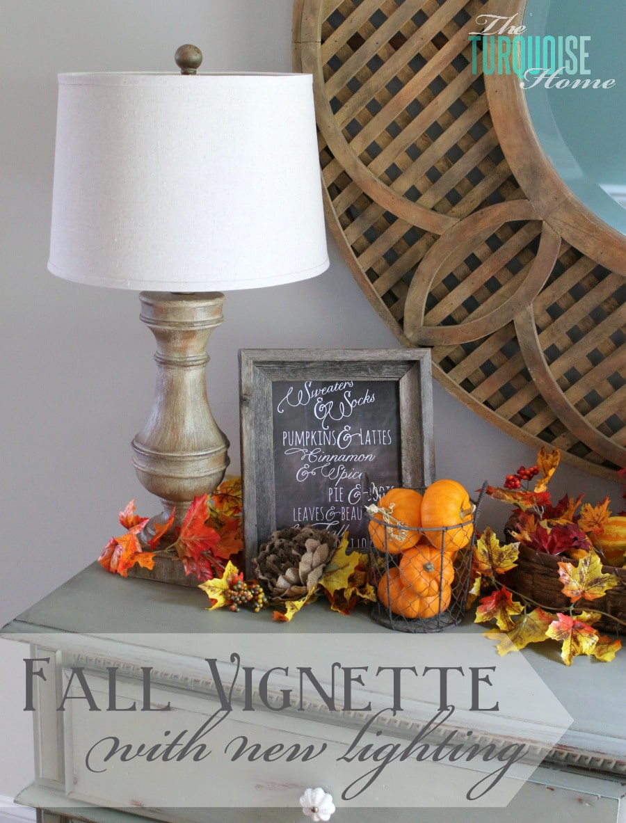 Fall Vignette {with new lighting}