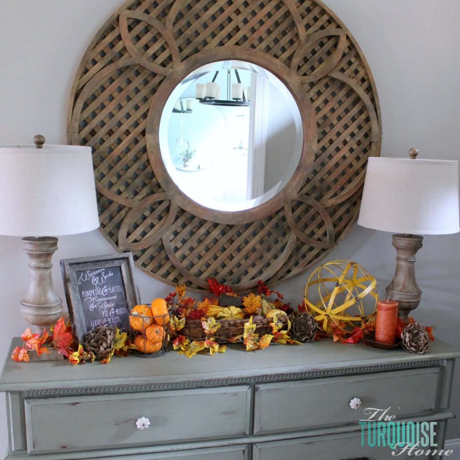 Fall Vignette with new lighting