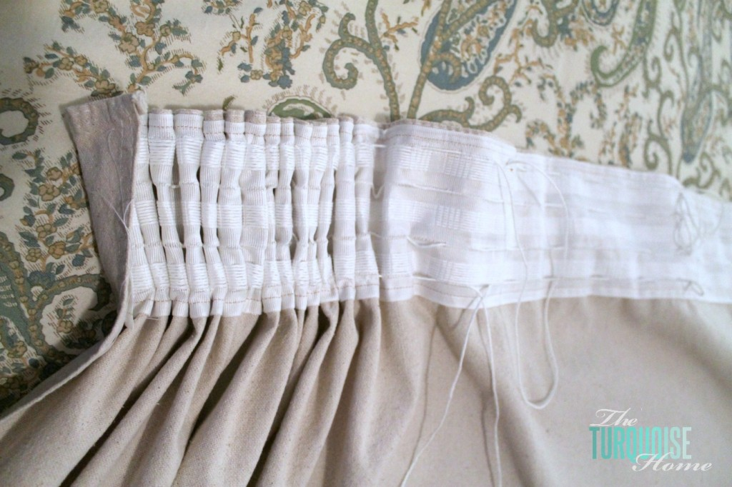 DIY Easy Pleated Curtains