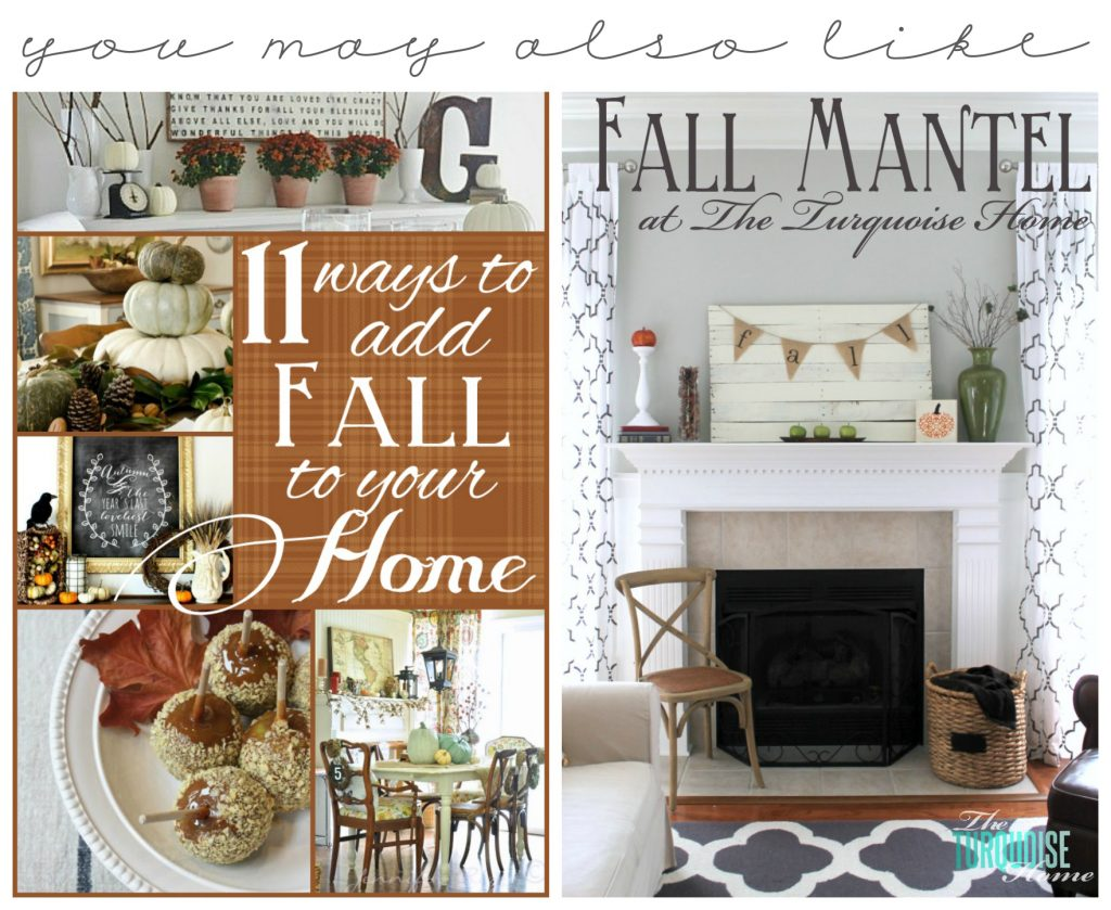 11 Ways to Add Fall to Your Home & Fall Mantel