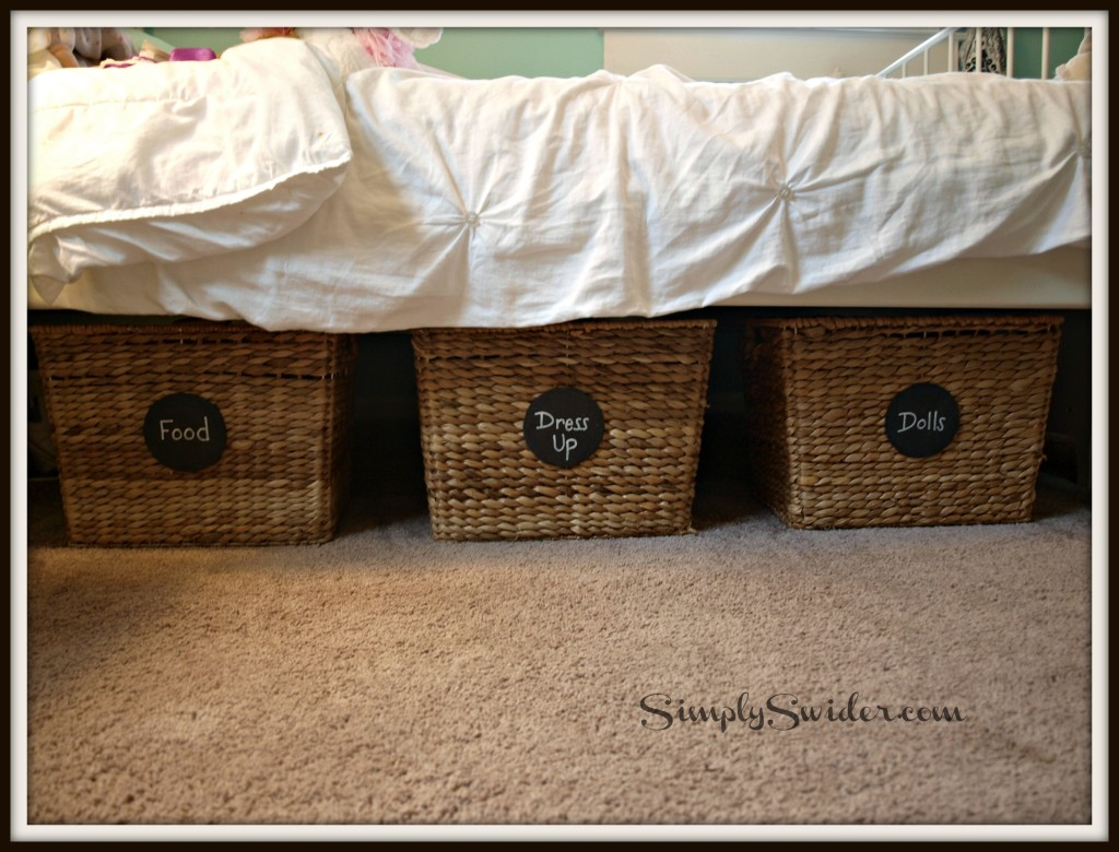 Chalkboard Labels on Baskets