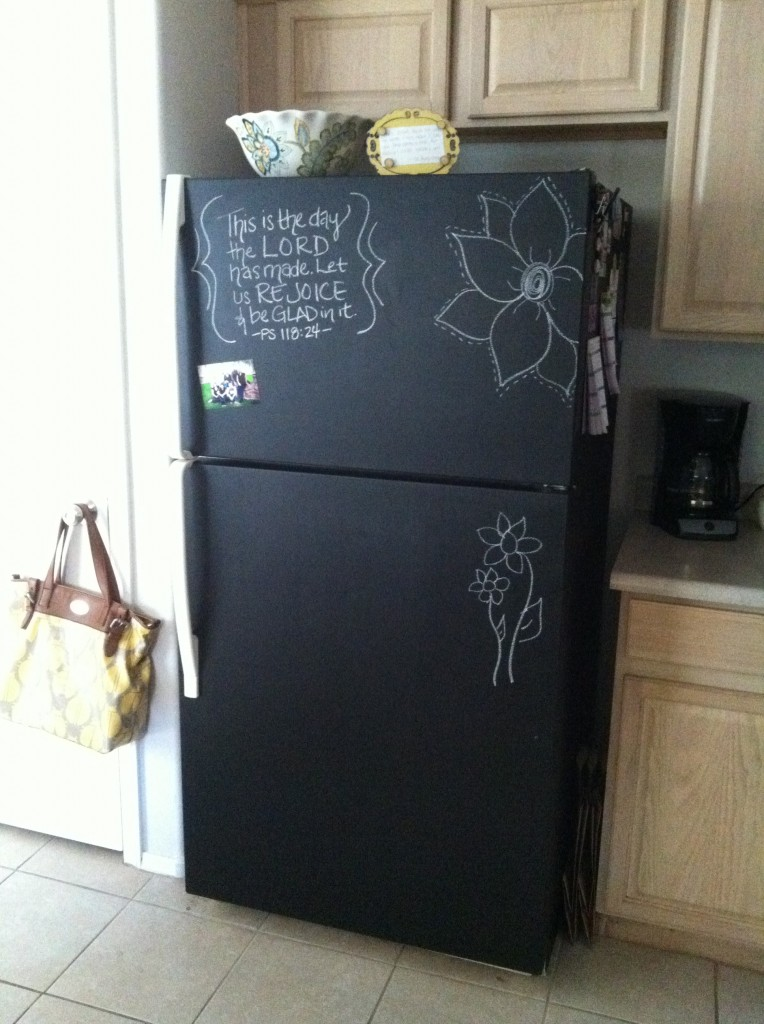Chalk Board Paint Refrigirator