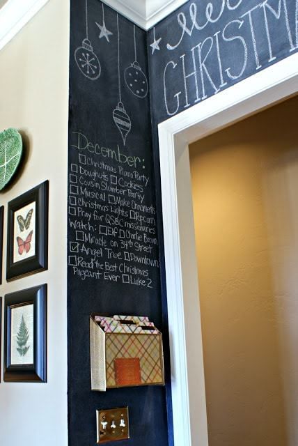 Painted Chalkboard Wall