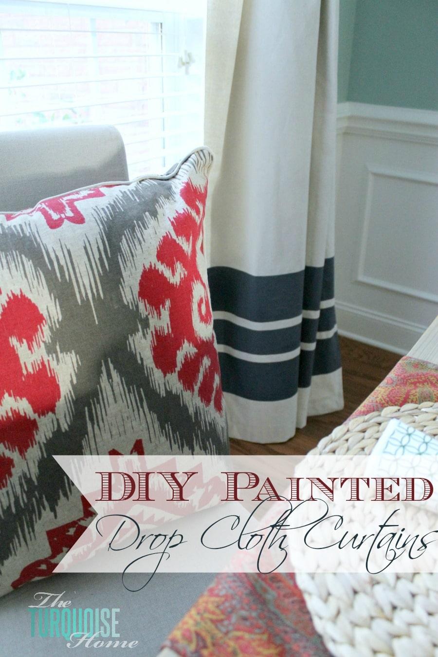 Drop cloth curtains dyed - Drop Cloth Curtains Dyed 46