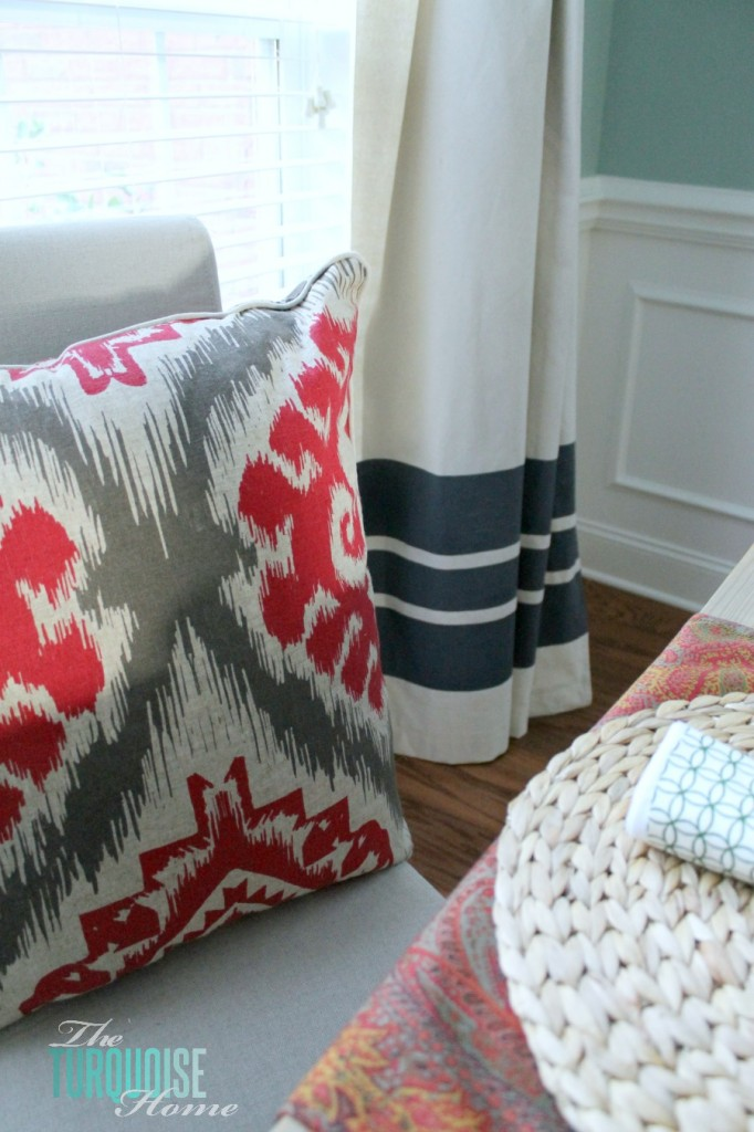 Diy Drop Cloth Curtains The Turquoise Home