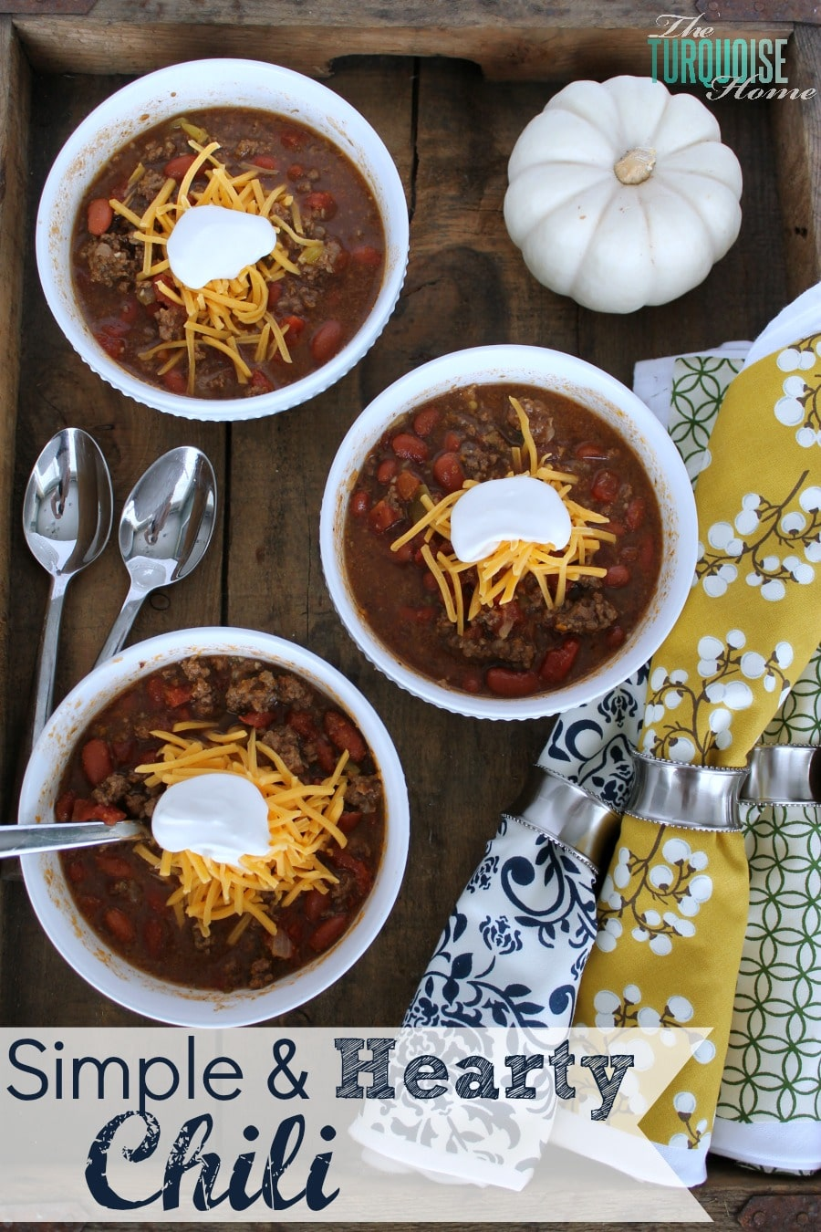 Simple and Hearty Chili {a family favorite!}