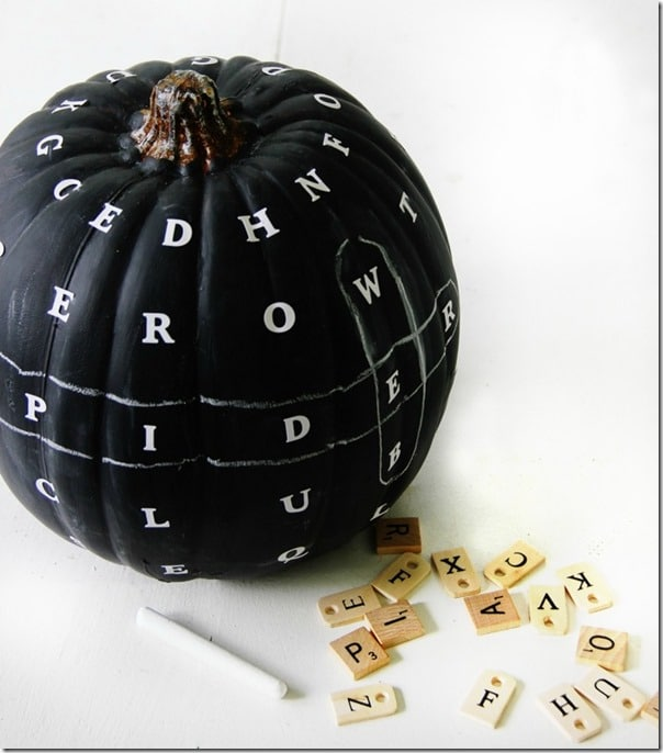 Chalkboard Word Find Pumpkin