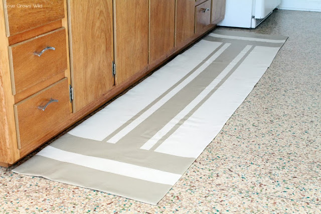 DIY Drop Cloth Rug