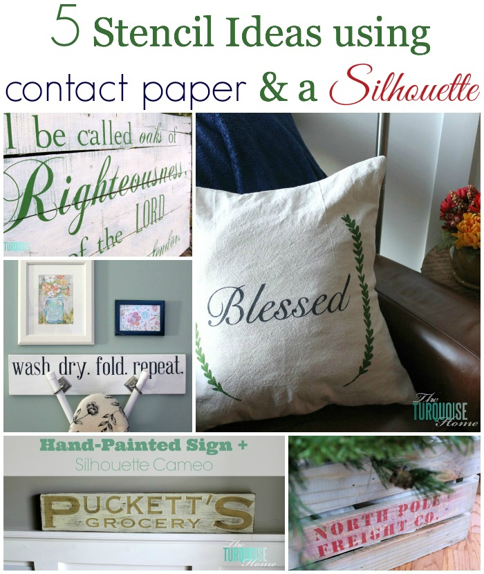 Five Stencil Ideas using Contact Paper and a Silhouette