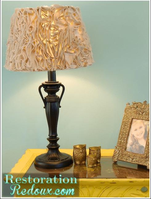 Ruffled Drop Cloth Lamp Shade
