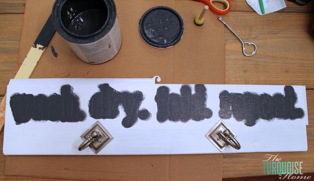 DIY Ironing Board Hanger