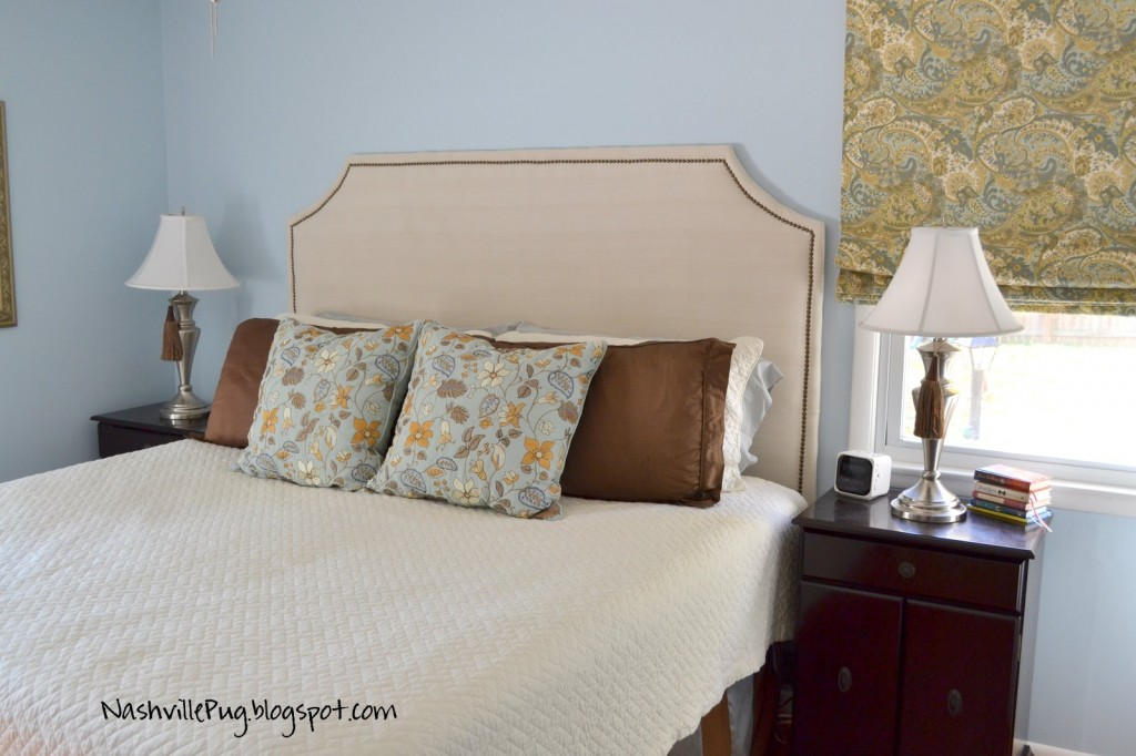 Drop Cloth Headboard with Nailhead Trim