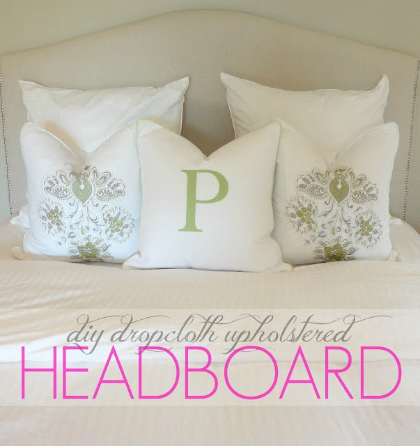 Drop Cloth Headboard