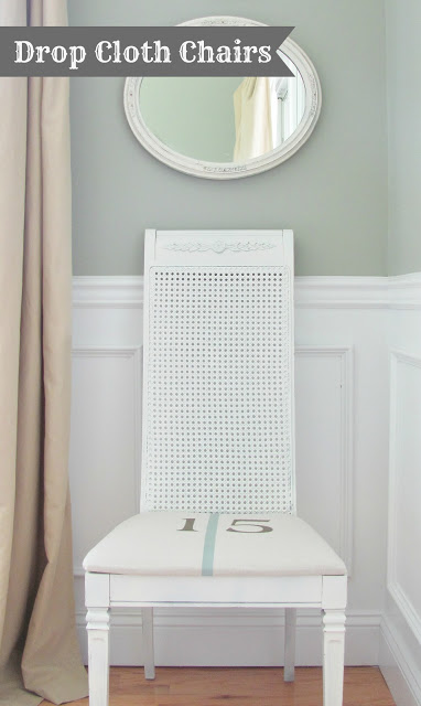 DIY Drop Cloth Chairs