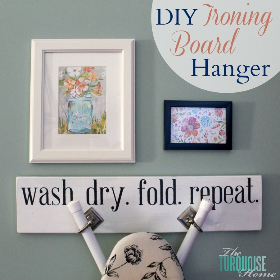 DIY Ironing Board Hanger