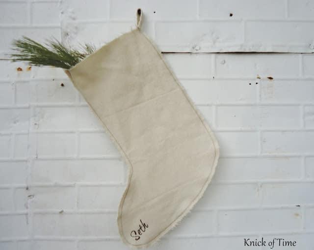 Drop Cloth Christmas Stockings