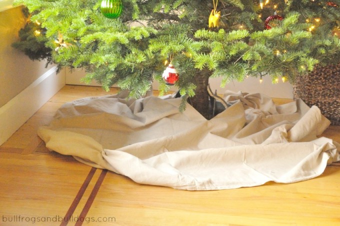 Drop Cloth Christmas Tree Skirt