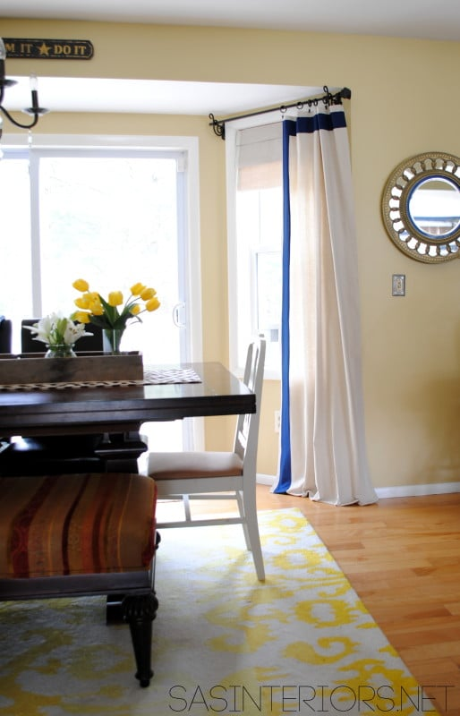 Drop Cloth Curtain Panels with Leading Edge Detail