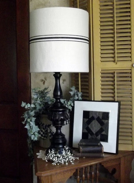 Drop Cloth Grain Sack Lampshade
