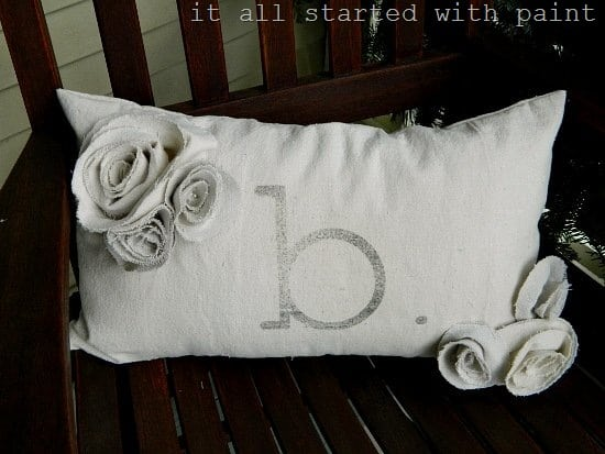 Drop Cloth Monogrammed Pillow