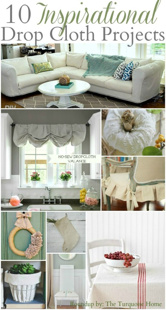 Astounding 10 Inspirational Drop Cloth Projects The Turquoise Home Pdpeps Interior Chair Design Pdpepsorg