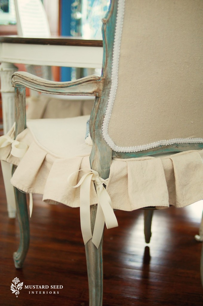 Drop Cloth Slip Covered Chair