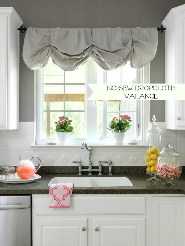 No Sew Drop Cloth Valance