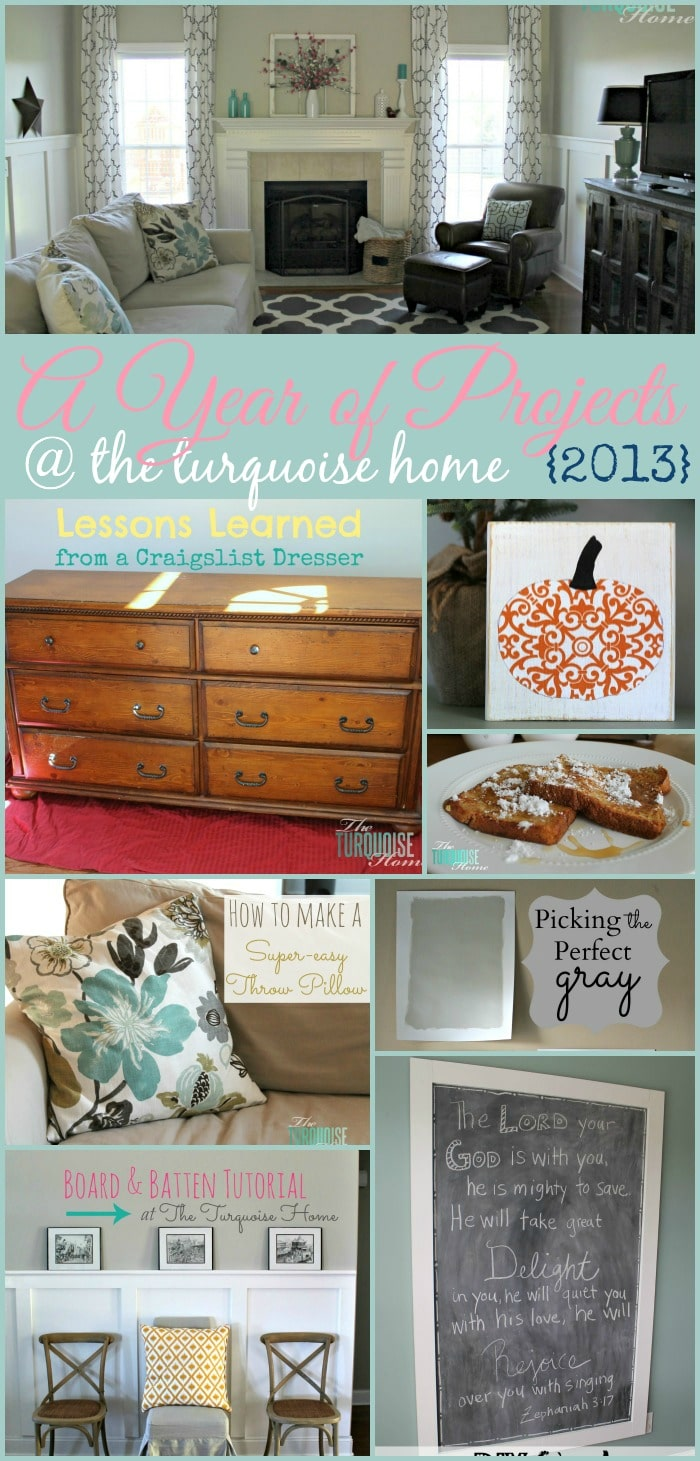 A Year of Posts at The Turquoise Home {2013} #theturquoisehome #diy