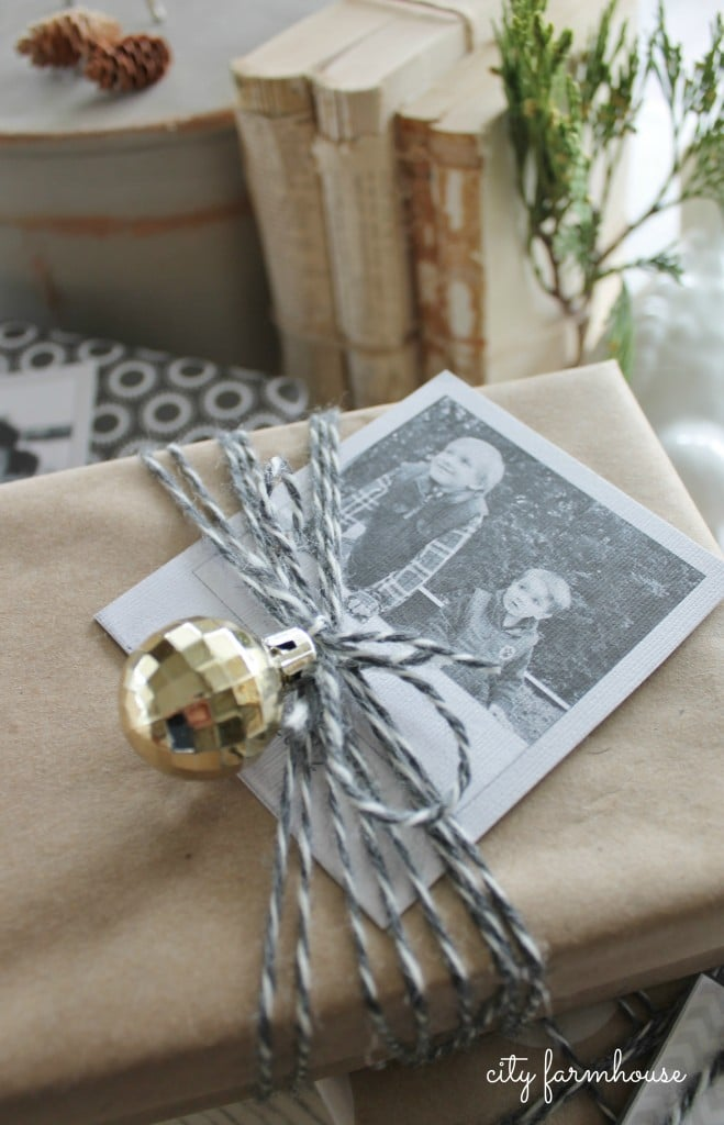 Twine, Ornament & Photo gift-wrapping from City Farmhouse