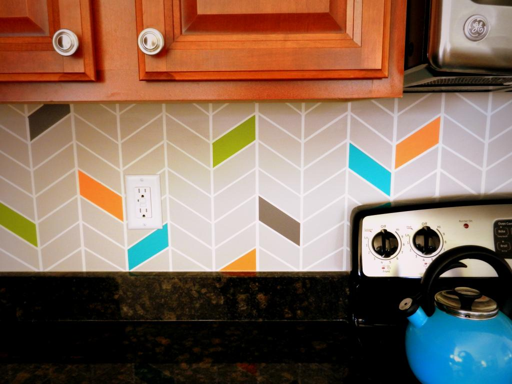 DIY Painted Backsplash