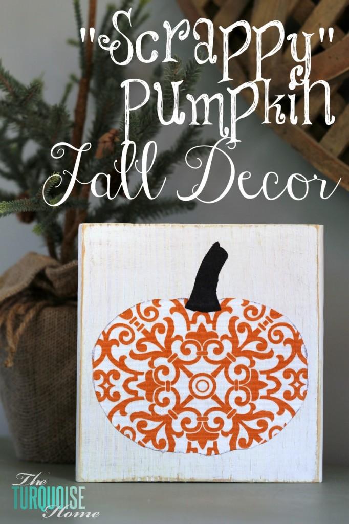 Scrappy Pumpkin Fall Decor