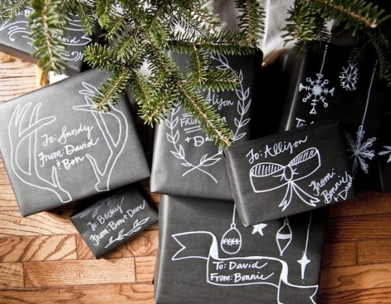 Christmas Chalkboard Packaging from Going Home to Roost